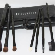 Set 7 pensule machiaj Fraulein38 negre - Pensula machiaj