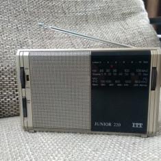 Radio portabil vintage ITT Junior 220, impecabil. - Aparat radio