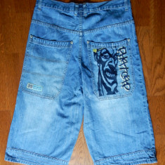 Blugi hip hop PH Industries Breaker Jr Denim Shorts 99 Double 9 Phatcap; XL (48) - Bermude barbati, Culoare: Din imagine