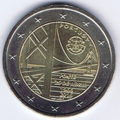PORTUGALIA moneda 2 euro comemorativa 2016 - Podul, UNC, Europa, Cupru-Nichel