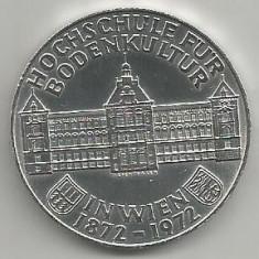 AUSTRIA 50 SHILLING 1972 100 ANI INSTITUT AGRICOL [1] ARGINT 900/1000, a UNC, Europa