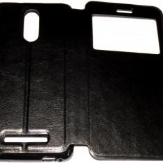 Husa Protectie Toc Flip Cover Xiaomi Redmi Note 3 - Husa Telefon Xiaomi, Universala, Negru, Piele Ecologica, Cu clapeta