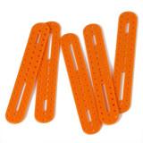 Placă Ovală din Plastic Portocalie cu Găuri