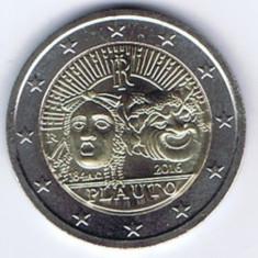 ITALIA moneda 2 euro comemorativa 2016 - Plautus, UNC, Europa, Cupru-Nichel