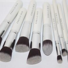 Set 10 pensule machiaj Fraulein38 Kabuki Sea Pearl albe par natural - Pensula machiaj