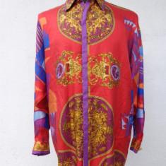 Camasa din matase vintage Gianni Versace -Atelier Versace 100% originala - Camasa barbati Versace, Marime: 48, Culoare: Multicolor, Maneca lunga