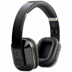 Casti Microlab T1 Dual Input (Wireless/Wired) Bluetooth Black, Casti On Ear, Active Noise Cancelling