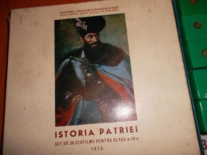 DIAFILME 36 BUCATI ,ISTORIA PATRIEI CLASA A VI A ,ANUL 1975 ,STARE FOARTE BUNA .