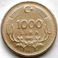 TURCIA, 1000 LIRE 1991, Europa, Crom