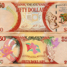 GUYANA- 50 DOLLARS ND 2016 - NEW- UNC!! - bancnota america