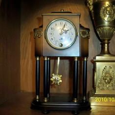 Ceas pendula de semineu Schmid coloane - Ceas de semineu