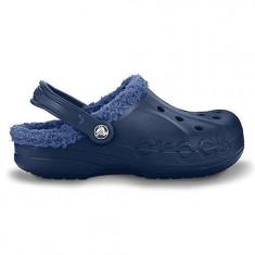 Papuci Crocs imblaniti Baya Lined Navy Red (Crc11692N ) - Papuci barbati Crocs, Marime: 42.5, Culoare: Bleumarin