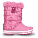 Cizme pentru copii Crocs Hello Kitty Gust Boot Europe Pink Lemonade (Crc11787-669) - Papuci copii Crocs, Marime: 27.5, Culoare: Roz