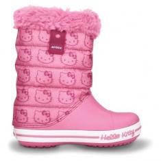 Cizme pentru copii Crocs Hello Kitty Gust Boot Europe Pink Lemonade (Crc11787-669) - Cizme copii Crocs, Marime: 27.5, Culoare: Roz