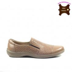 Pantofi barbati piele naturala OTTER maron (Marime: 43) - Pantof barbat Otter, Casual