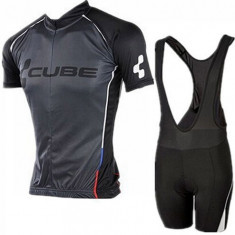 Echipament ciclism CUBE Black Line 2016 set NOU tricou si pantaloni