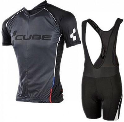 Echipament ciclism CUBE Black Line set NOU tricou si pantaloni foto