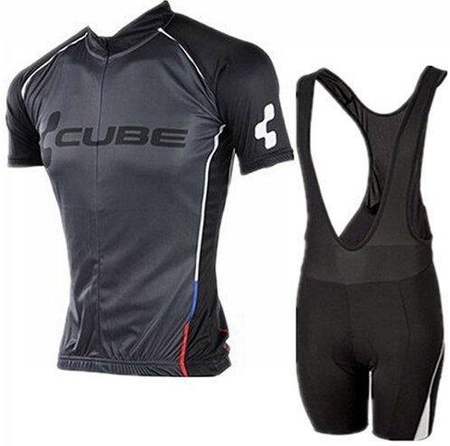 Echipament ciclism CUBE Black Line set NOU tricou si pantaloni