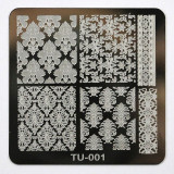Matrita metalica pentru unghii Placuta mica Model TU 001 - Model unghii
