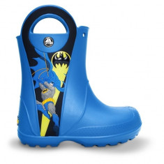 Cizme pentru copii Crocs Batman Rain Boots Kids Sea Blue (Crc12768-430) - Cizme copii Crocs, Marime: 23.5, Culoare: Albastru