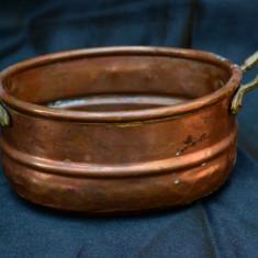 VECHE JARDINIRA DIN CUPRU, LUCRATA MANUAL - Metal/Fonta, Jardiniere