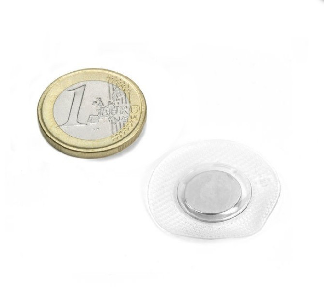 Magnet neodim disc pentru cusut cu PVC circular, diametru 12 mm