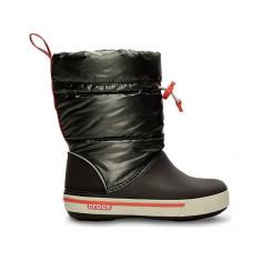 Cizme pentru copii Crocs Crocband Iri Gust Boot Kids Espresso (Crc12772-26L) - Cizme copii Crocs, Marime: 27.5, Culoare: Maro