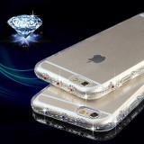 Cumpara ieftin Husa Silicon / TPU transparentă cu pietricele pe margini pentru IPhone 6 / 6s