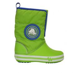 Cizme pentru copii Crocs Light Gust Boot Volt Green (CRC13900-NEOX ) - Cizme copii Crocs, Marime: 34.5, Culoare: Verde