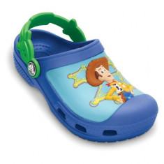 Saboti pentru copii Crocs Woody and Buzz Lightyear Custom clog Sea Blue (Crc11937-466) - Papuci copii Crocs, Marime: 21.5, Culoare: Albastru