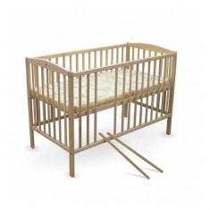 Patut copii Natur 120 x 60 cm First Smile - Patut lemn pentru bebelusi