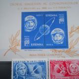 1963 LP 562-3 COSMONAUTICA - VOSTOK 5 SI 6 - Timbre Romania, Nestampilat