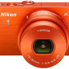 Nikon 1 J4 18, 4MP ORANGE NIKKOR VR 10-30mm f/3.5-5.6 SLR Camera Foto Mirrorless - Aparate foto Mirrorless Nikon, Body (doar corp), 18 Mpx