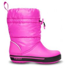 Cizme pentru copii Crocs Crocband Iri Gust Boot Kids Neon Magenta Black (Crc12772-6L1) - Cizme copii Crocs, Marime: 25.5