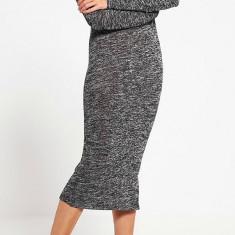 Rochie lunga din vascoza - Vero Moda - art. 10159461 negru melange - Rochie de zi Vero Moda, Marime: 36
