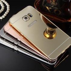 Husa / Bumper aluminiu cu spate oglinda pentru Samsung Galaxy S6 edge