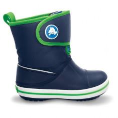 Cizme pentru copii Crocs Chameleons Crocband Gust Boot Kids Navy Lime (Crc12543-479) - Papuci copii Crocs, Marime: 27.5, Culoare: Bleumarin