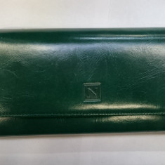 PORTOFEL DAMA PIELE, Verde, Cu inchizatoare
