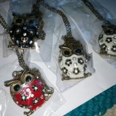Medalion/Colier/Pandantiv - Bufniță/Owl - 3 Modele/Nou/Femei/Țiplă