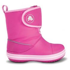 Cizme pentru copii Crocs Crocband Gust Boot Kids Fuchsia Bubblegum (Crc11094-68L) - Cizme copii Crocs, Marime: 25.5, 33.5