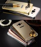 Husa / Bumper aluminiu + spate acril oglinda Samsung Galaxy J3 (2016) / J320F, Negru