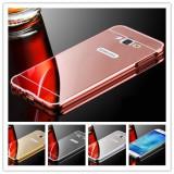 Husa / Bumper aluminiu + spate oglinda pentru Samsung J5 2016 / J510FN, Alt model telefon Samsung, Argintiu, Auriu, Negru, Roz