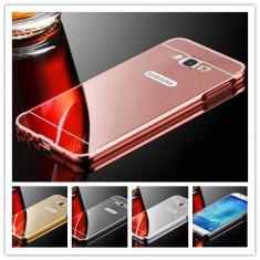 Husa / Bumper aluminiu + spate oglinda pentru Samsung J5 2016 / J510FN, Alt model telefon Samsung, Negru