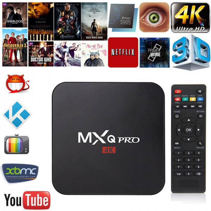 Media Player MXQ PRO 4K Amlogic S905 QuadCore 64bit Android 5.1 Smart TV Box PC foto mare