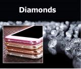 Cumpara ieftin Husa Silicon / TPU transparentă cu margini metalizate si pietricele IPhone 6/6s