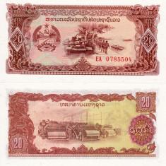 LAOS 20 kip ND 1979 UNC!!! - bancnota asia