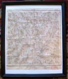 Harta 1914 Barlad Tutova hartie serviciul geografic al armatei inramata