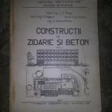 Constructii de zidarie si beton vol.I Focsa V.C.