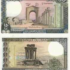 LIBAN 250 livres 1988 UNC!!!