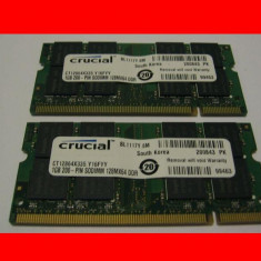 Memorie ram laptop 1GB 1024MB SODIMM ddr1 PC2700 DDR333 333MHz Crucial